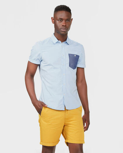 SHORT SLIM FIT CHINO HOMME Jaune moutarde