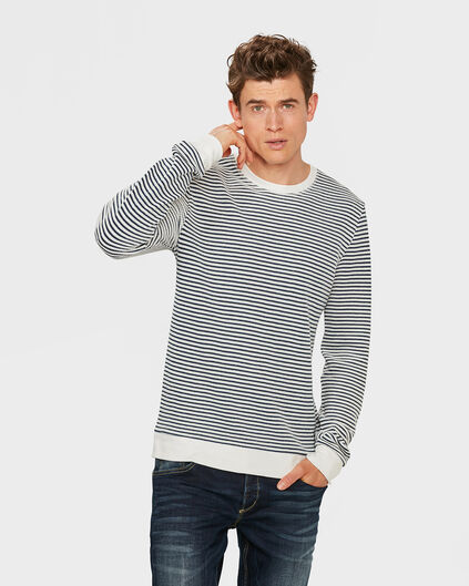 PULL STRUCTURE R-NECK HOMME Bleu