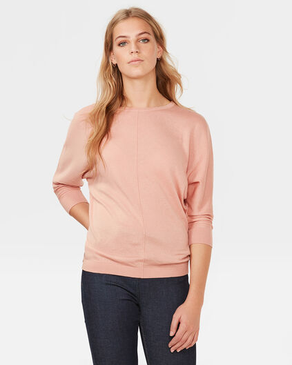 PULL OVERSIZED KNIT FEMME Vieux rose