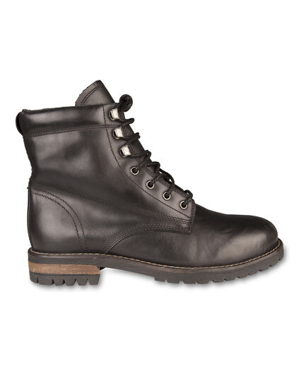 BOTTINES REAL LEATHER HOMME Noir