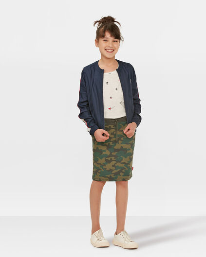 JUPE FOURREAU SPORTY CAMOUFLAGE PRINT FILLE Vert armee