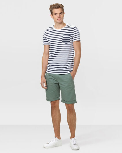 SHORT REGULAR FIT CHINO HOMME Vert armee