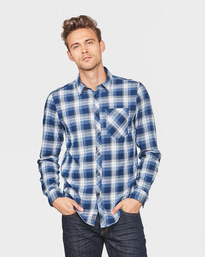 CHEMISE RELAXED FIT FLANEL CHECKED HOMME Bleu