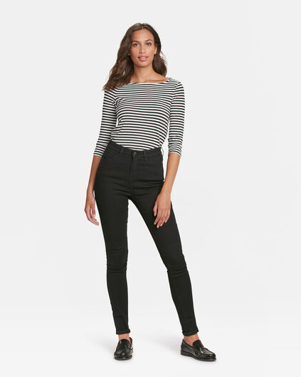 JEANS HIGH RISE SKINNY RECOVERY FEMME Noir