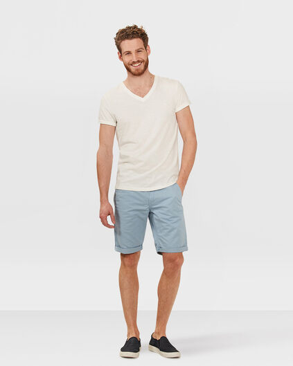 BERMUDA REGULAR FIT CHINO HOMME Bleu eclair