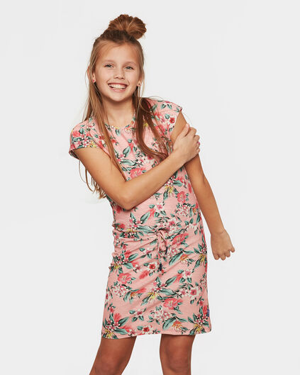 ROBE FLOWER PRINT FILLE Rose clair