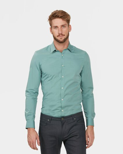 CHEMISE STRETCH HOMME Vert menthe