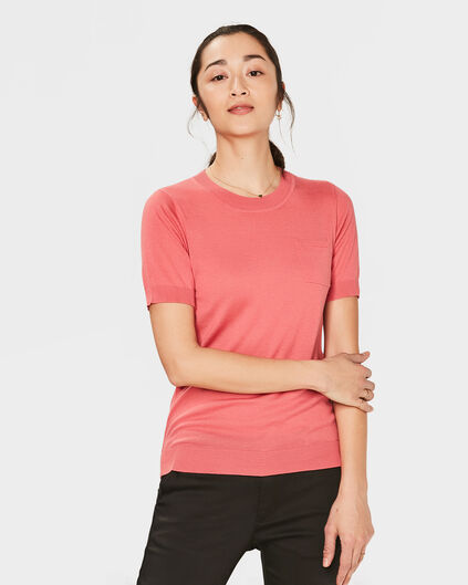 PULL ONE-POCKET FEMME Rose corail