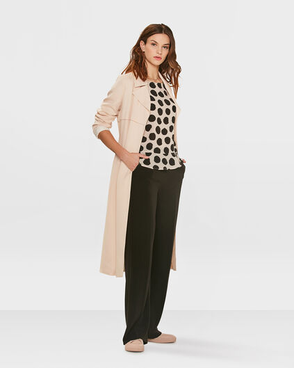 TRENCH-COAT LYOCELL FEMME Rose clair