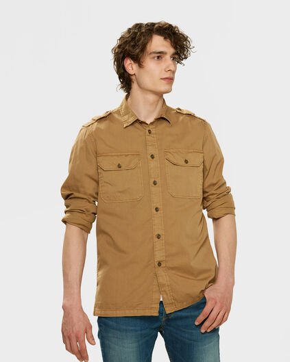 CHEMISE RELAXED FIT CARGO HOMME Brun