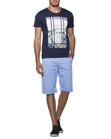 BERMUDA REGULAR FIT HOMME Bleu glace