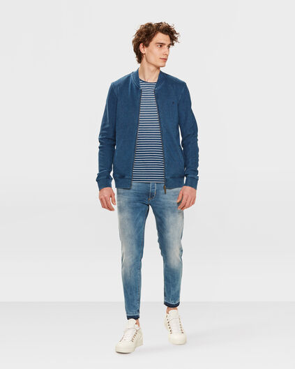 JEANS SKINNY CROPPED TAPERED SUPER STRETCH HOMME Bleu