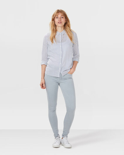 JEANS HIGH RISE SKINNY FIT FEMME Gris clair