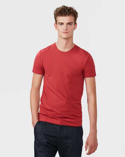 R-NECK T-SHIRT HOMME Rouge