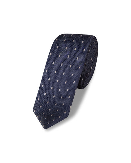 CRAVATE POLKA DOT HOMME Bleu marine