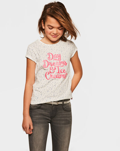 T-SHIRT ICE CREAM PRINT FILLE Blanc cassé