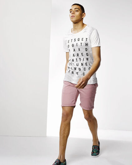 SHORT REGULAR FIT CHINO HOMME Vieux rose