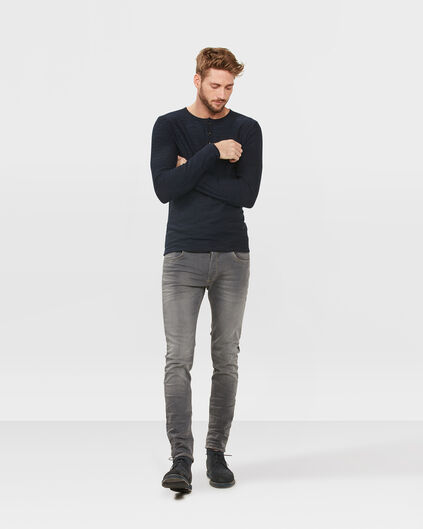 JEANS SKINNY TAPERED SUPER STRETCH HOMME Gris clair mêlé
