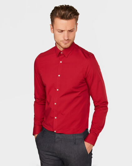 CHEMISE STRETCH HOMME Rouge