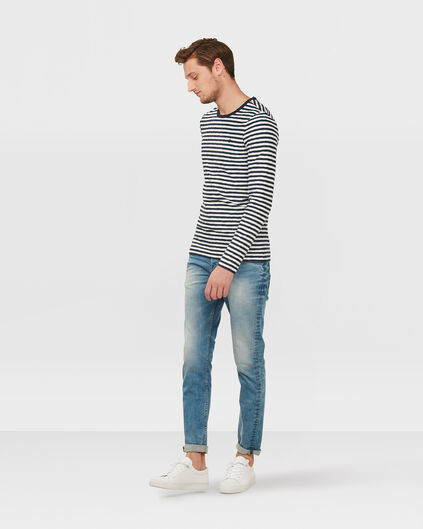 JEANS SKINNY TAPERED STRETCH HOMME Bleu eclair