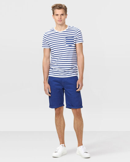 SHORT REGULAR FIT CHINO HOMME Bleu