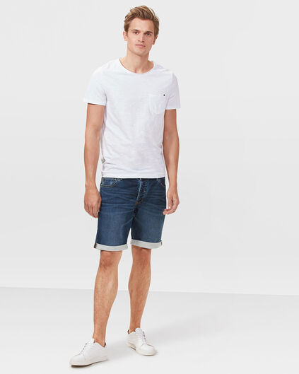 SHORT SWEAT DENIM  REGULAR FIT HOMME Bleu foncé