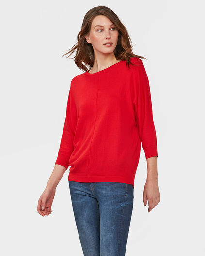 PULL OVERSIZED KNIT FEMME Rouge vif