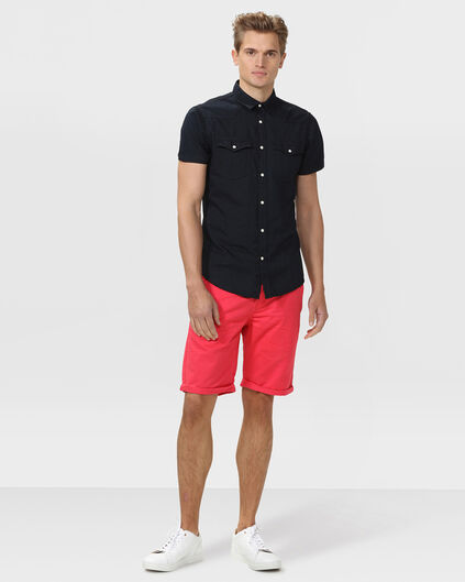 BERMUDA REGULAR FIT CHINO HOMME Rouge