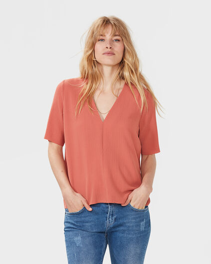 TOP BOXY FIT FEMME Vieux rose