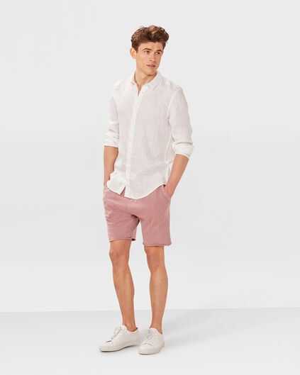 SHORT SWEAT GARMENT DYED HOMME Vieux rose