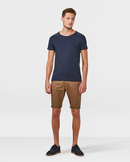 SHORT REGULAR FIT CHINO HOMME Brun Cannelle