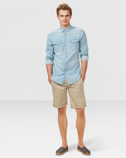 SHORT REGULAR FIT CHINO HOMME Beige