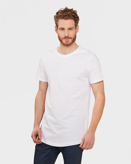 T-SHIRT EXTRA LONG FIT HOMME Blanc