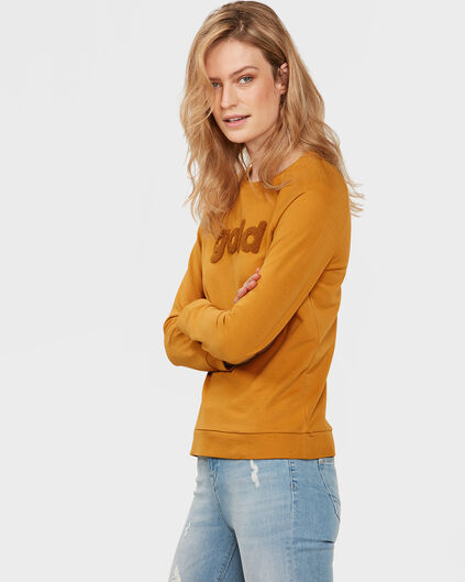 SWEAT-SHIRT GOLD FEMME Jaune moutarde