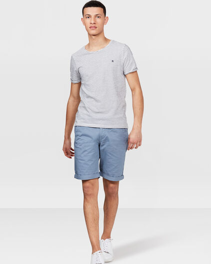 BERMUDA REGULAR FIT CHINO HOMME Bleu gris
