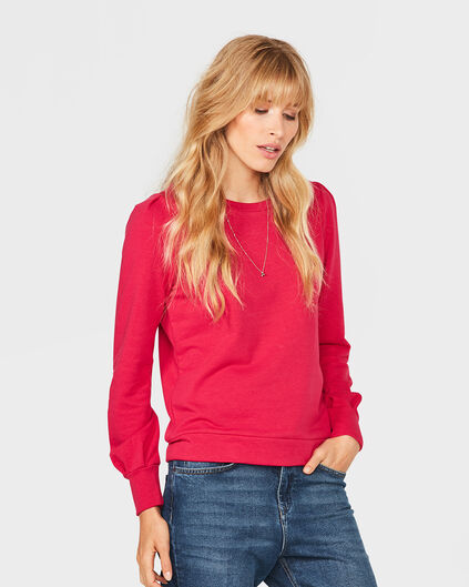 SWEAT-SHIRT SOLID FEMME Rose