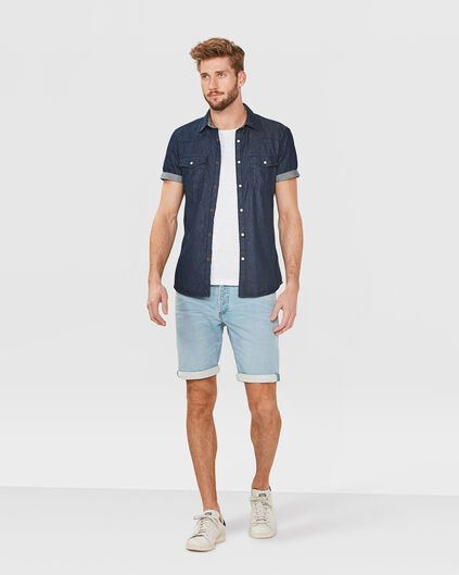 BERMUDA REGULAR FIT JOG DENIM HOMME Bleu eclair