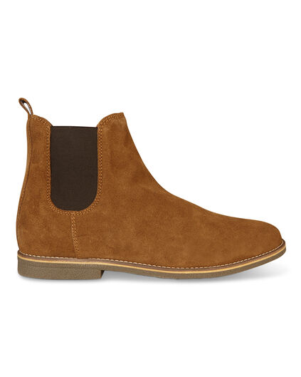 BOTTINES REAL LEATHER CHELSEA HOMME Cognac