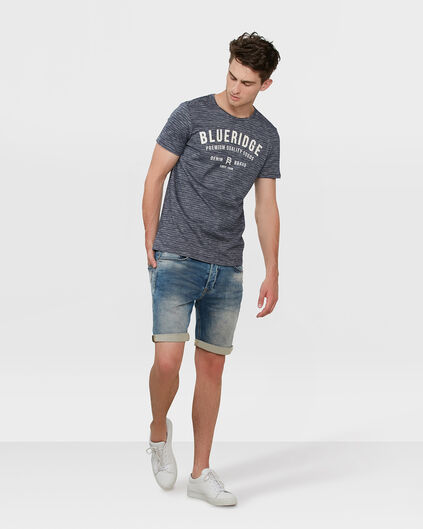 BERMUDA REGULAR FIT JOG DENIM HOMME Bleu