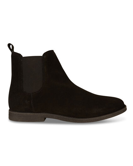 BOTTINES REAL LEATHER CHELSEA HOMME Noir
