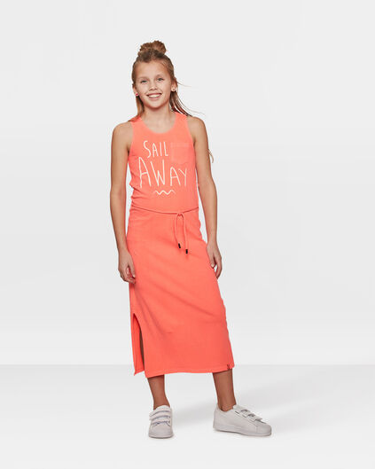ROBE SAIL PRINT MAXI FILLE Orange vif