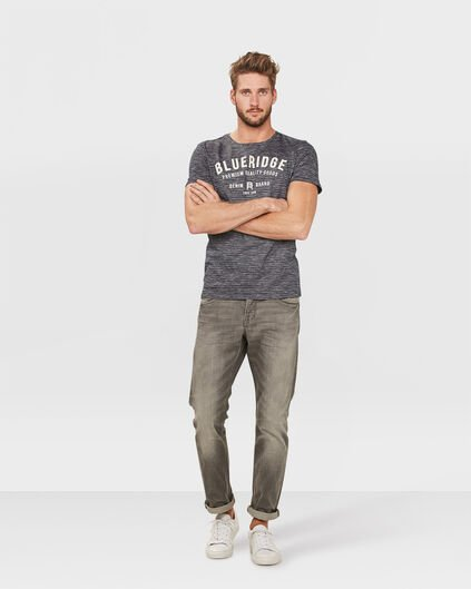 JEANS SLIM STRAIGHT GREY DENIM HOMME Gris