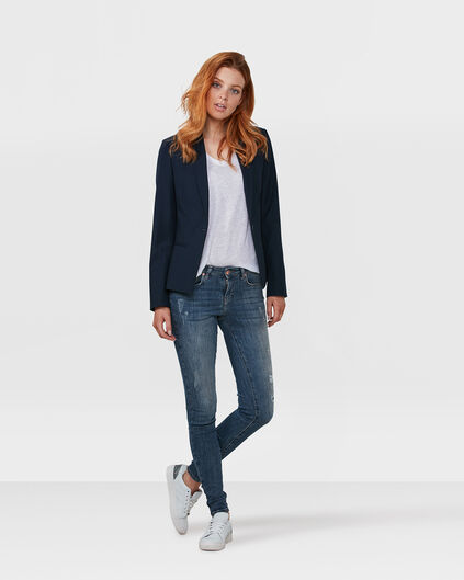 JEANS MMID RISE SUPER SKINNY DAMAGED RECOVERY FEMME Bleu
