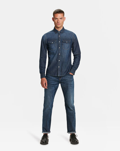 JEANS RELAXED TAPERED COMFORT STRETCH HOMME Bleu