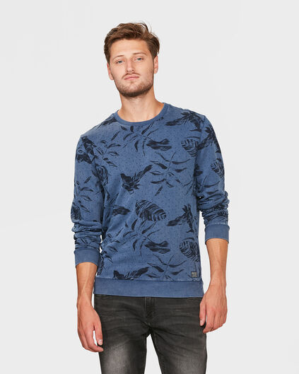 SWEAT-SHIRT FLOWER PRINT HOMME Bleu
