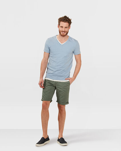 BERMUDA REGULAR FIT CHINO HOMME Vert