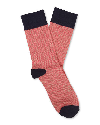 CHAUSSETTES STRUCTURE HOMME Rouge eclair