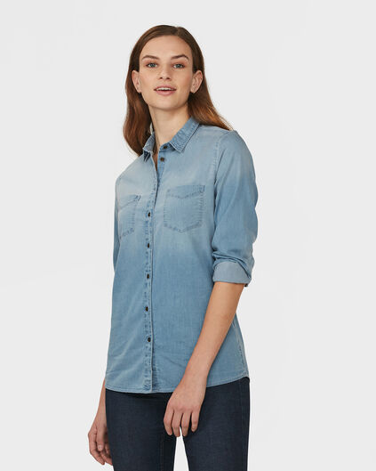 CHEMISIER BLUE RIDGE DENIM FEMME Bleu glace