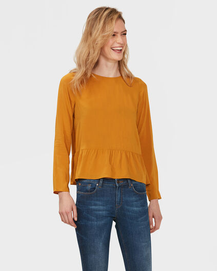 BLOUSE RUFFLE FEMME Or