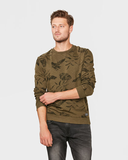 SWEAT-SHIRT FLOWER PRINT HOMME Vert